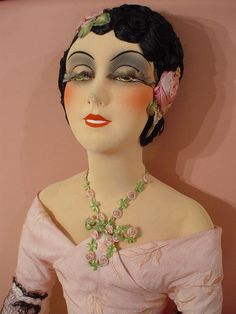 Antique French Boudoir Doll Poupee de Salon Ancienne 1925 Art Deco Fashion Doll | eBay