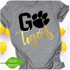 Go Tigers svg Paw svg Tigers svg Football svg Tigers Cheer Shirts, Football Mom Shirts, Vinyl Shirts, Team Shirts, Teacher Shirts, Sports Shirts, Football Moms, School Spirit Wear, School Spirit Shirts
