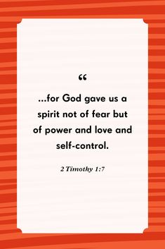 2 Timothy 1:7countryliving Bible Verses About Fear, Scripture Quotes, Fear And Trembling, Lamentations, My Salvation, Fear Of The Lord, Pretty Words, Inspirational Message