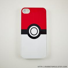 Capa dura de Pokebola para iPhone 4. $16.00 (@ Etsy)