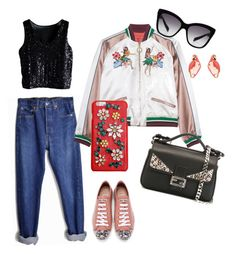 """""""Summer Night"""" by mimijahame on Polyvore featuring Levi's, Miu Miu, Fendi, Dolce&Gabbana and Kate Spade"""