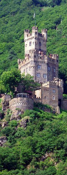 Castelo Sooneck, Niederheimbach, estado da Renânia-Palatinado, Alemanha.