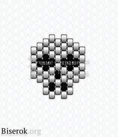 peyote/brick stitch skull pattern