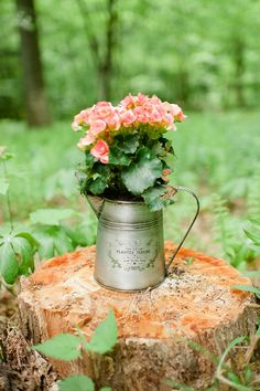 watering can planter  boho wedding inspiration