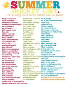 "TweetEmail TweetEmail Share the post ""Summer Bucket List Printable (100 Fun ideas!!)"" FacebookPinterestTwitterEmail This summer bucket list printable we posted last year has so many fun ideas – we just had to repost it!  It sure makes it easier to come up with an answer to ""Mommmm, we're bored!"" when this is hanging on thecontinue reading..."
