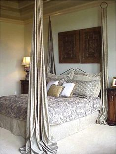 Easy DIY Bed Canopy    ...............Follow DIY Fun Ideas at www.facebook.com/... for tons more great projects!