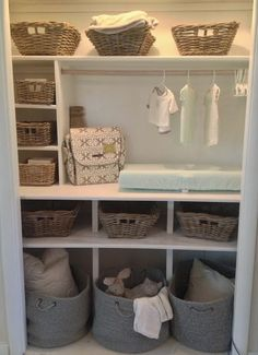 Baby Closet Ideas | Baby Closet Organization | Gender Neutral Nursery Ideas | Nursery Closet Organizing | Baby Closet Pictures | Nursery Closet Design Ideas