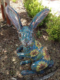 Mosaic garden bunny