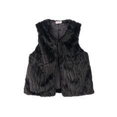 Toddler Girl Design 365 Faux-Fur Vest, Size: 4T, Black