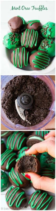 Mint Oreo Truffles - make with Trader Joe's 'Joe-Joes' and Greek yogurt instead