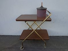 Mid Century Bar Folding Cart Vintage Cosco •Super fabulous mid century modern bar cart!  •Great vintage piece with modern appeal.  •Solid and