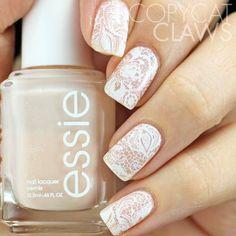 White & Beige + Square + Lace