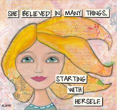 Inspiring poster for women and girls - Believe in yourself!