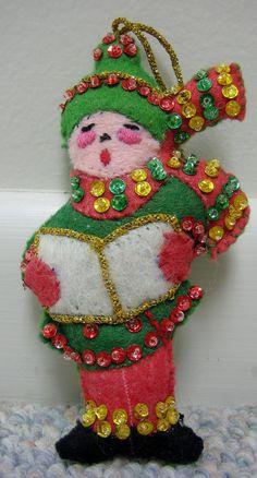 Vintage Christmas Bucilla Christmas Ornaments por RSWVintage