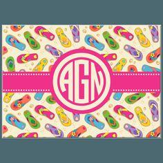 318e5b0fdd295 Flip Flop Mix Monogram Glass Cutting Board