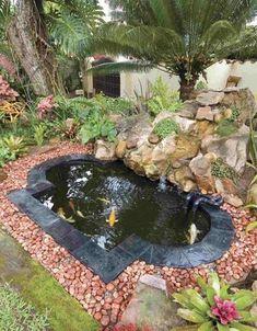 11 Εντυπωσιακά συντριβάνια για τον κήπο σου! | exypnes-idees.gr Small Backyard Ponds, Ponds For Small Gardens, Small Ponds, Unique Gardens, Backyard Ideas, Backyard Waterfalls, Garden Ponds, Garden Ideas, Backyard Decorations