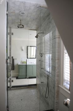 Another gorgeous bath by Edgewater Architects. Master Suite Floor Plan, Bathroom Inspiration, Bathroom Ideas, Wet Rooms, Beautiful Bathrooms, Modern Rustic, Master Bathroom, Home Remodeling, Arbor Swing