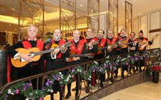 The 10-member band of minstrels and troubadours from the University of Valencia will serenade listeners in the public spaces of the hotel with Spanish school music, traditional folklore and Latin songs, accompanied by the guitar, bandurria, lute, tambourine, double-bass and other instruments.
