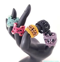 Coloratissimi anelli per la primavera e l'estate #anelli #macrame #spring2015…