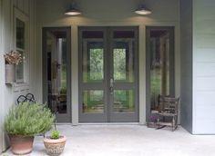 Grey doors...nice transitional style.