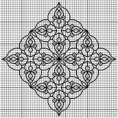 Résultat d'images pour Blackwork Embroidery Blackwork Cross Stitch, Blackwork Embroidery, Cross Stitch Charts, Cross Stitch Designs, Cross Stitching, Cross Stitch Embroidery, Embroidery Patterns, Cross Stitch Patterns, Zentangle