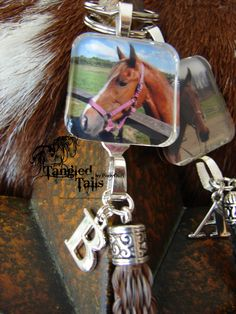 Custom photo pendant. Can have hair cast behind photo. Horse dog cat human Horse hair keepsake jewelry keychain