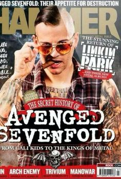 M. Shadows on cover of Metal Hammer!