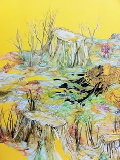 Recently went to see Personal Mythologies at the M.A.I. gallery. This is a portion of a drawing by Marigold Santos.