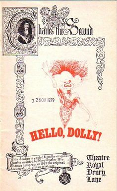 Hello Dolly Drury Lane Theatre Programme with Carol Channing 1979