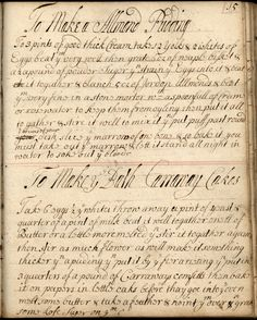 Early 18th century recipe book, from the Stevens Cox Collection