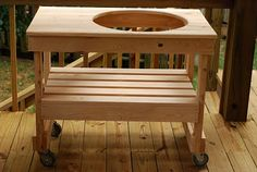 Outdoor BBQ Table Plans   Large Green Egg Table Plans