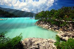 Bluer waters, I have never seen.  Labadee Haiti
