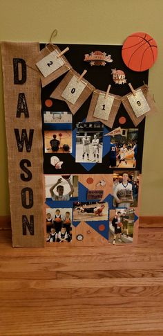 Basketball Senior Night Made for Senior night and will also use it for graduation. Senior Night Gifts, Senior Day, Basketball Posters, Volleyball Posters, Basketball Signs, Basketball Party, Graduation Party Planning, Graduation Ideas, Team Dinner