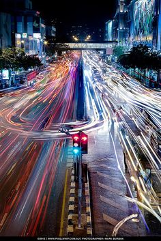 Bangkok Traffic by mark burban (snapmole) © . now this one you got to love, fantastic colorful long exposure light trails . Exposure Photography, Urban Photography, Night Photography, Creative Photography, Amazing Photography, Photography Tips, Street Photography, Fashion Photography, Photography Awards