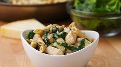 Here is what you'll need! Healthier Chicken Alfredo Pasta Servings: 4 INGREDIENTS 1 tablespoon olive oil 2 chicken breasts, cubed 1 teaspoon salt ½ teaspoon pepper 3 cloves garlic, minced 2 tablespoons flour 1 cup chicken broth 1 cup skim milk, or milk of choice ½ teaspoon salt ¼ teaspoon pepper 2 cups spinach 2 …