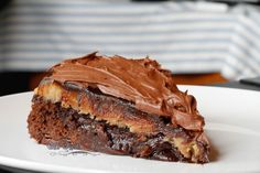 The Kitchen Whisperer Brownie Peanut Butter Cup Fudgy Ganache Cake