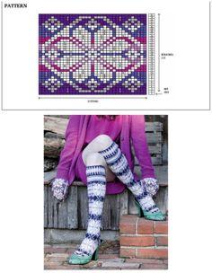 Crochet Socks Pattern, Knitting Paterns, Knitting Charts, Knitting Stitches, Knitting Socks, Knitting Projects, Swedish Weaving, Fair Isle Knitting, Cross Stitch Patterns