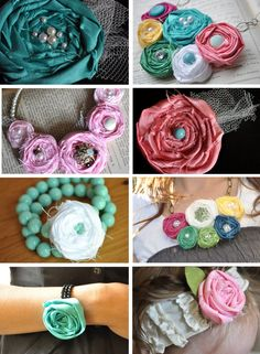 fabric rosette for multiple uses as a fashion accessory