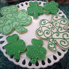 Shamrock Cookies - $24.50   Available for shipping nationwide. 100% Nut-Free. #nutfree #shamrock #cookies #stpatricksday