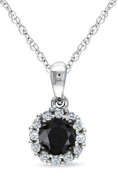 12 carat white black diamond heart key pendant necklace in silver black diamond pendant mozeypictures Images