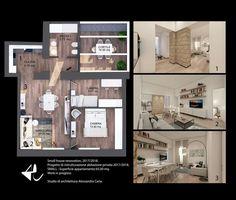Appartamento 65 mq. Design di interni. Ristrutturazione abitazione privata 2017/2018. Studio di architettura Alessandra Caria.