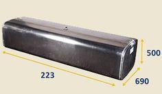 Алюминиевый топливный бак на полуприцеп
