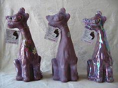 Fenton VHTF Boysenberry Alley Cats Alley Cat, Winning The Lottery, Fenton Glass, Glass Art, Cats, Ebay, Gatos, Cat, Kitty