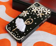 Diamond iphone 4 cases, transparent  iphone cases 4 4s,  crystal  iphone 4 cover,bling iphone 4 cases with dancing girl. $19.99, via Etsy.