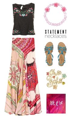 """S t a t e m e n t Necklaces: Oh, So, B o h o !"" by nonniekiss ❤ liked on Polyvore featuring Emilio Pucci, Carole and Red Herring"