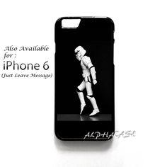 NEW Cool Star Wars Stormtrooper Moonwalking iPhone 6 Plus Hard Case Cover