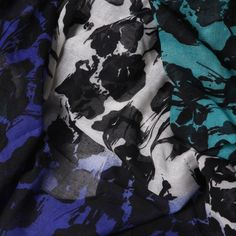 Pashmina multicolor abstracta negro
