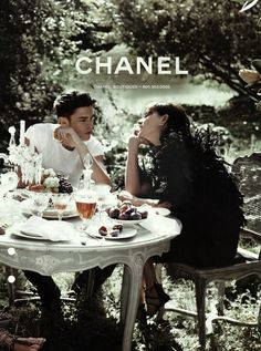 Share a meal with the one you love, while wearing Chanel it's even better! <3