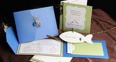 Fishing+Themed+Wedding | Impress Me Designs | Custom Wedding Invitations | Handmade Invitations