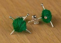 Knitting/Crochet Ear Rings